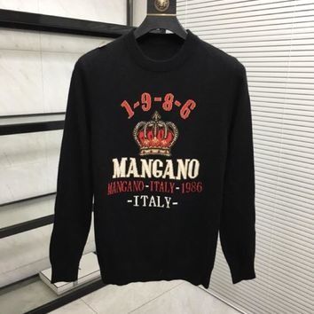 D&G 2019 autumn and winter new men and women sweater trend couple models print