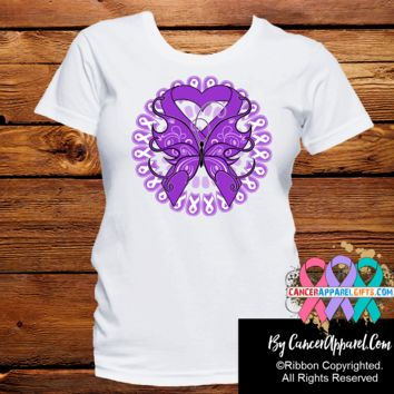 Pancreatic Cancer Stunning Butterfly Shirts