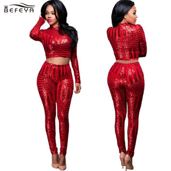 Happy Year Sequin Stitching Hollow Rompers Womens Jumpsuit Combinaison Femme 2016 Autumn Crop Sexy Women Overalls Catsuit