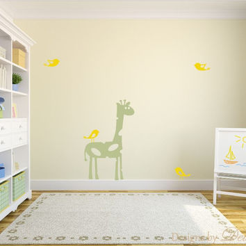 Kids Play Room Decor with Birds and Giraffe