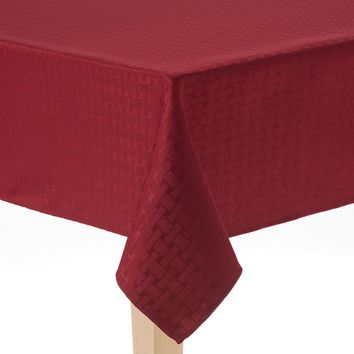 Cuisinart Basketweave Stain-Resistant Microfiber Tablecloth