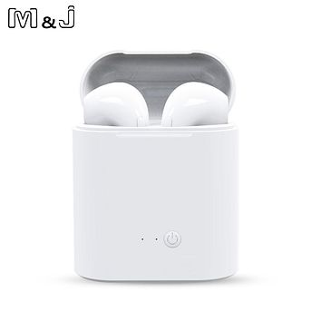 i7s Mini Bluetooth Stereo Earbuds with Mic With Charging Box (2 Colors)
