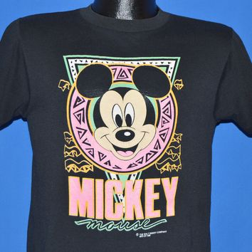 90s Mickey Mouse Disney Neon t-shirt Youth Large