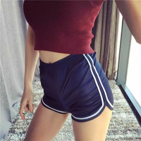 Sports Stretch Yoga Pants Shorts [9796882703]