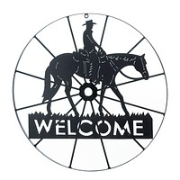 Cowboy Welcome Sign