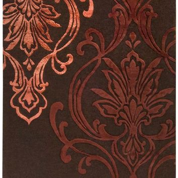 Modern Classics Medallion and Damasks Area Rug Brown, Red