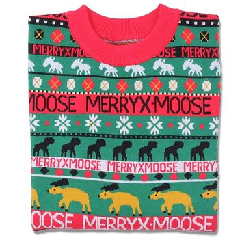Merry X-Moose Sweater by Preppy Elves