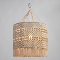 Natural Macrame Deja Drum Pendant Shade