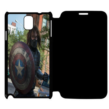 The Winter Soldier Captain America Samsung Galaxy Note 4 Flip Case Cover