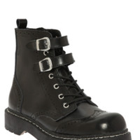 Anarchic By T.U.K. Black Brogue Boot
