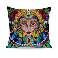 Peacock Couch Pillow