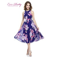 Short Cocktail Dresses  Plus Size Ever Pretty AP05452 2016 Summer Flower Floral Print Dress Formal Party Gowns Cocktail Dress