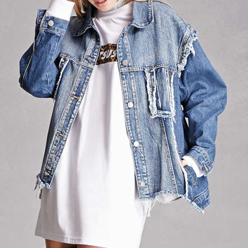 Raw-Cut Denim Jacket