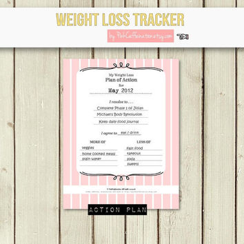 Make Your Own Customized Weight Loss Journal / Diet & Fitness Tracker