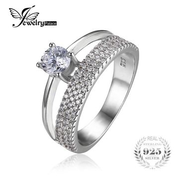 JewelryPalace Fashion 0.9ct Anniversary Wedding Band Engagement Ring Guard Enhancer 925 Sterling Silver For Women