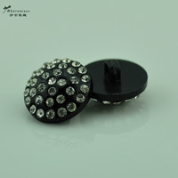 20mm 6 PCS/Pack  Black Color Rhinestone plastic Buttons Sweater decorative buttons craft supplies Shirt Sewing Accessories
