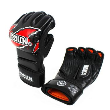 MMA Boxing Gloves 5 Colors High Quality PU Mateial MMA Half Fighting Gloves Muay Thai Training Breathable Male Fitness for Adult
