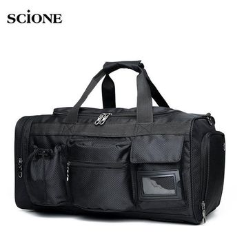 Sports gym bag Men Multi-Pocket Gym Bag Travel Gear Waterproof Large Handbag Tote Luggage Men For Fitness Black Sports Duffle Bags XA113WA KO_5_1