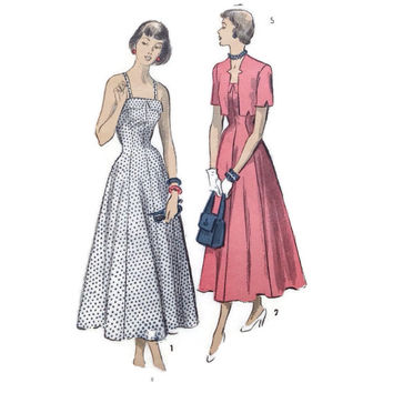 Vintage Sewing Pattern, Advance, 5190, Misses Sundress with Bolero Jacket, Size 12 Bust 30 Retro Fashion, Hollywood Glamour