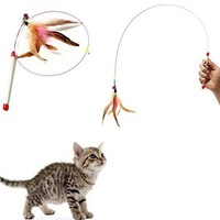 Feather Teaser Wand Cat Toy