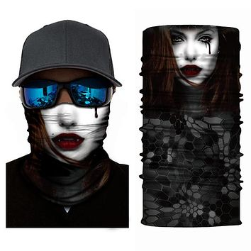 Motorcycle Face Skull Masks Terror Ghost Windproof Breathable Mask Outdoor Sports Ski Bicyle Scarf Unisex Bandanas
