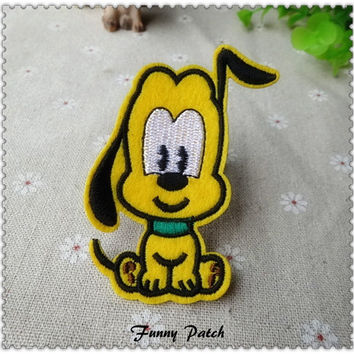 Disney Dog Pluto Iron on Patch 243-H