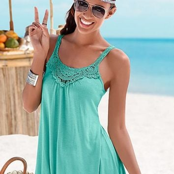 Lace Patchwork Camisole in Green