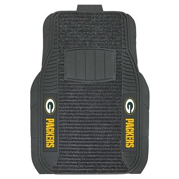 Green Bay Packers Car Mats Deluxe Set