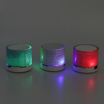 Mini Bluetooth Speaker Handsfree Bluetooth Led Light Music Speaker Wireless Bluetooth Colorful Subwoofer Support TF Speaker