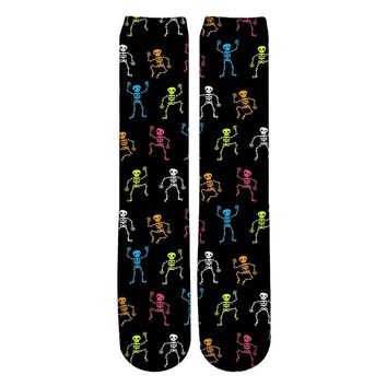 3D many Skull Punk Rock Socks Unisex Women Men