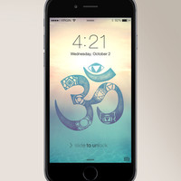 FREE - Chakra Om iPhone/Android Wallpaper
