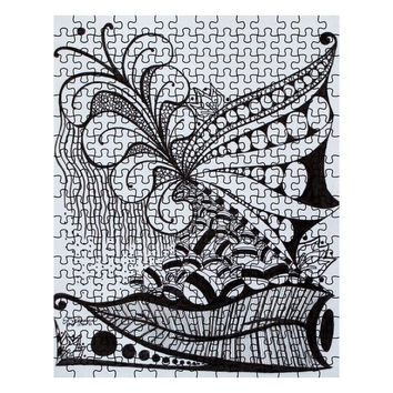 Nature Zen Doodle - 252 Piece Puzzle of Ink Fine Art Drawing