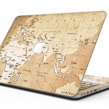 The Vintage Mother Russia Map Pattern - MacBook Pro with Retina Display Full-Coverage Skin Kit