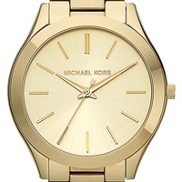 Women's Michael Kors 'Slim Runway' Bracelet Watch, 42mm - Gold