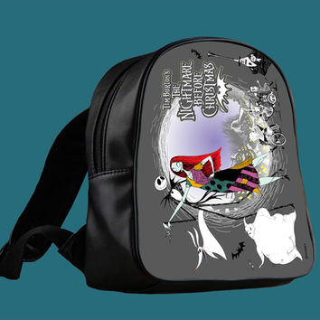 Tim Burton s the nightmare before christmas for Backpack / Custom Bag / School Bag / Children Bag / Custom School Bag *