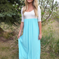Perfectly Paired Maxi Dress - Mint