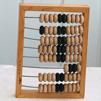 Vintage Small Wooden Abacus for Kids Children - 1980s - from Russia / Soviet Union / USSR