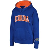 Florida Gators Ladies Arch Name Pullover Hoodie - Royal Blue