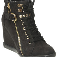 Studded Strap Wedge Sneaker | Shop Just Arrived at Wet Seal