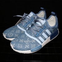 Adidas NMD x Louis Vuitton Boost Blue Sneakers