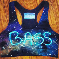 Light Up Bra // Bass in Space Sports Bra // Festival Top