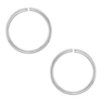 Pack of 2 (Two) 6mm 18g Sterling Silver Seamless Nose Hoops or Ear Hoops