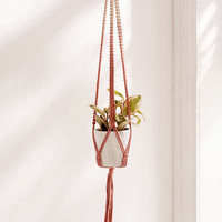 Serena Ombre Macrame Hanging Planter | Urban Outfitters