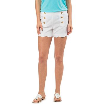 Nautical Scallop Short in Classic White by Southern Tide