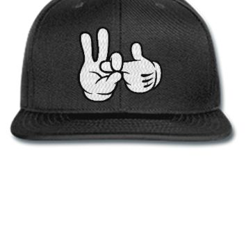dope 1 to 2 finger in EMBROIDERY - Snapback Hat