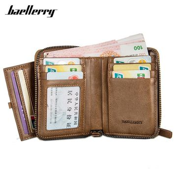 Baellerry High Quality Men Wallet With Individual Card Holder Zipper Coin Purses Brand Designer Small Wallets Male Carteira Man