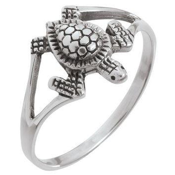 ONETOW Sea Turtle Sterling Silver Ring