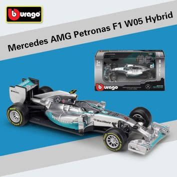 Mercedes Benz Racing Car Diecast  Simulator W05/W07 Alloy Toy Car Diecast Collection/Model/Kids Gift