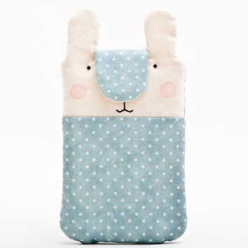 Blue Bunny iphone 6 case, Nokia Lumia case, iPhone case, iPhone sleeve, iPhone cover, iPhone 6+ sleeve