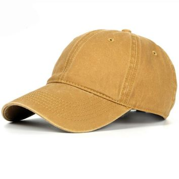 c3ffd92357a64b HT1182 Korea Style Vintage Solid Baseball Caps Men Women Plain 6. hats /beanies